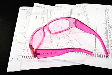 pink glassesの写真素材 [FYI00834796]