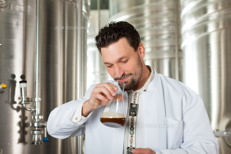 brewmaster for beer in his breweryの素材 [FYI00835012]