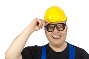 construction worker with head protectionの素材 [FYI00835405]