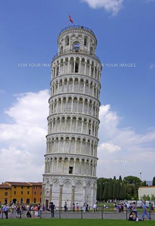 torre pendente de pisa - leaning tower of pisaの素材 [FYI00835728]