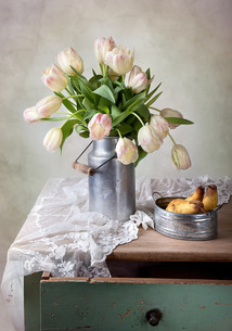 tulips and pearsの写真素材 [FYI00835976]