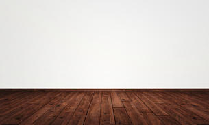 free wall with parquet floorの写真素材 [FYI00836009]