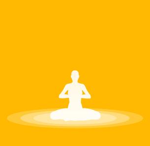 yoga pose symbol - yellow 30の素材 [FYI00836157]