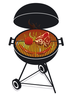 friendly barbecueの写真素材 [FYI00836163]