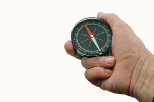 compass held in the handの素材 [FYI00836261]