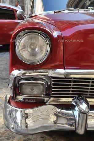vintage car in havana,cubaの写真素材 [FYI00836351]