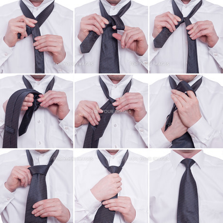 tie tie with a windsor knotの素材 [FYI00836594]