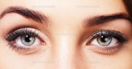 beautiful eyes of a womanの素材 [FYI00836853]