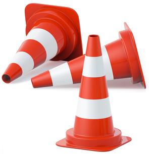 traffic cones,pylonの写真素材 [FYI00837138]