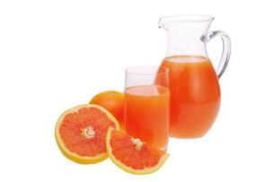 grapefruit juice - juice from grapefruit 02の写真素材 [FYI00838115]