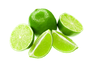 fresh limes isolated on white backgroundの素材 [FYI00840561]