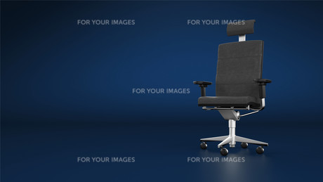 executive chair / office chair - blue backgroundの写真素材 [FYI00841887]