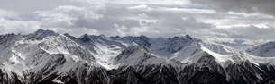 snowy mountains panoramaの写真素材 [FYI00842156]