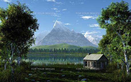 idyllic mountain landscapeの写真素材 [FYI00843090]