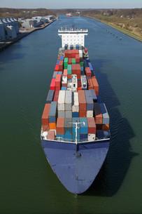 container ship bird'sの写真素材 [FYI00843311]