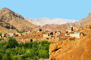 morocco city village kasbahsの写真素材 [FYI00844329]