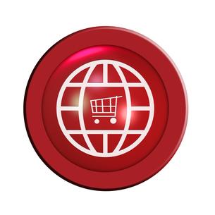 online shop buttonの写真素材 [FYI00844564]