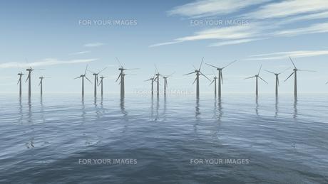 offshore wind parkの写真素材 [FYI00845721]