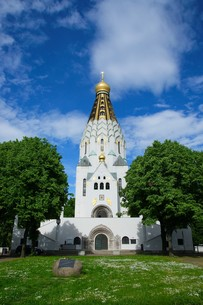 russian memorial church in leipzigの写真素材 [FYI00847528]