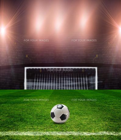 football fieldの写真素材 [FYI00848683]