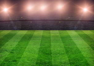 football fieldの写真素材 [FYI00848700]