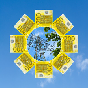 energy transition: costs and benefitsの写真素材 [FYI00849288]