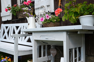 garden shed shabby chicの写真素材 [FYI00850037]