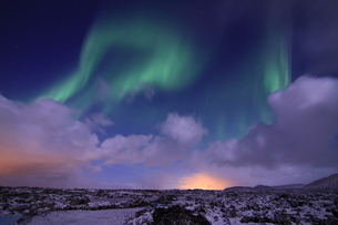 northern lights in icelandの写真素材 [FYI00854055]