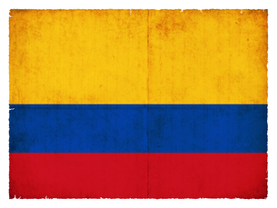 grunge flag colombiaの写真素材 [FYI00854137]