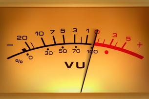 level meter in close-upの写真素材 [FYI00854664]