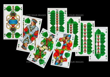 playing cards - sheepshead mapの写真素材 [FYI00854691]