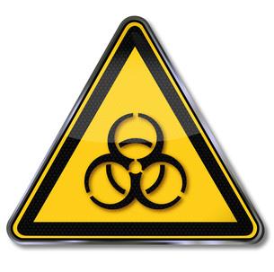 sign biohazard warningの写真素材 [FYI00854894]