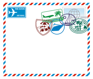 airmail letterの素材 [FYI00855093]
