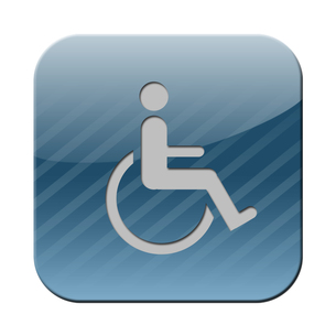 wheelchair iconの素材 [FYI00855227]