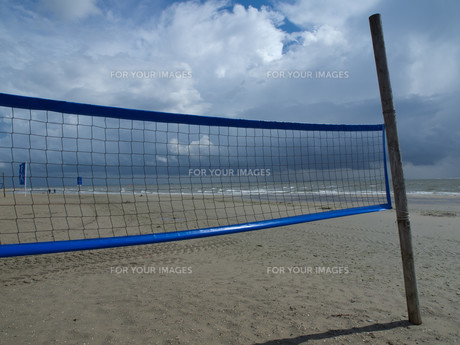 beach volleyball netsの素材 [FYI00855432]