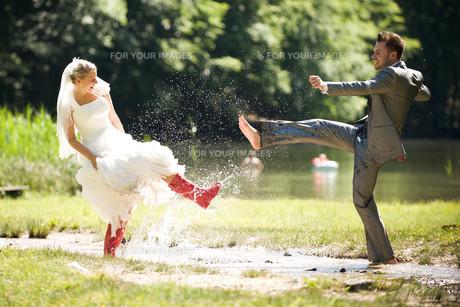 bride and groomの写真素材 [FYI00855694]