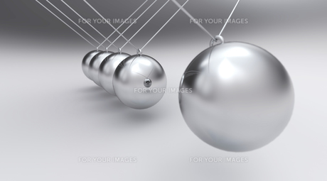 3d shot put pendant silver on white 5の写真素材 [FYI00855700]