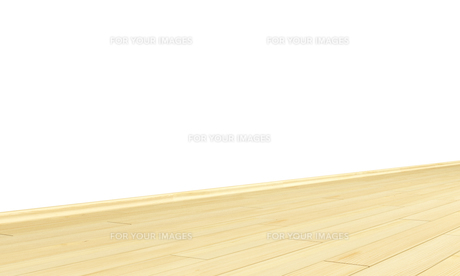 wall with wooden floor diagonal - spruceの写真素材 [FYI00855717]