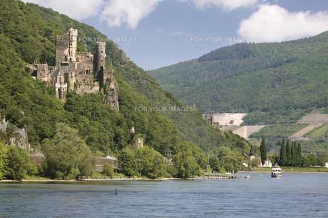 burg reichenstein (middle rhine)の写真素材 [FYI00855792]