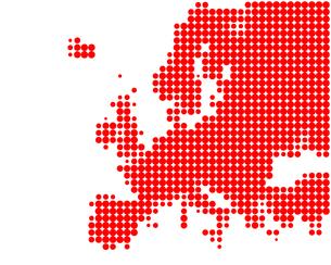map of europeの写真素材 [FYI00856658]