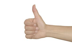 thumbs up,female handの素材 [FYI00857269]