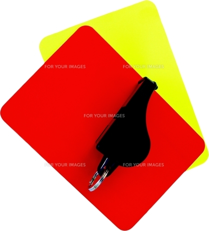 red and yellow cardの素材 [FYI00857488]