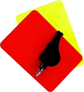 red and yellow cardの写真素材 [FYI00857488]