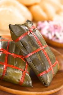 peruvian tamalesの写真素材 [FYI00857814]