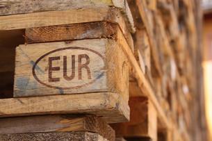 euro palletの写真素材 [FYI00857818]