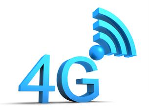 4g symbol in 3d - blueの素材 [FYI00858851]