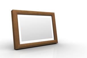 3d wooden picture frame - oak (european)の写真素材 [FYI00858880]