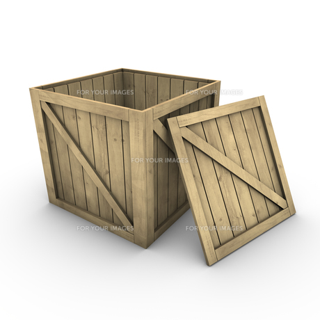 wooden box (incl. clipping path)の素材 [FYI00860140]