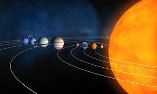 complete solar systemの写真素材 [FYI00860146]