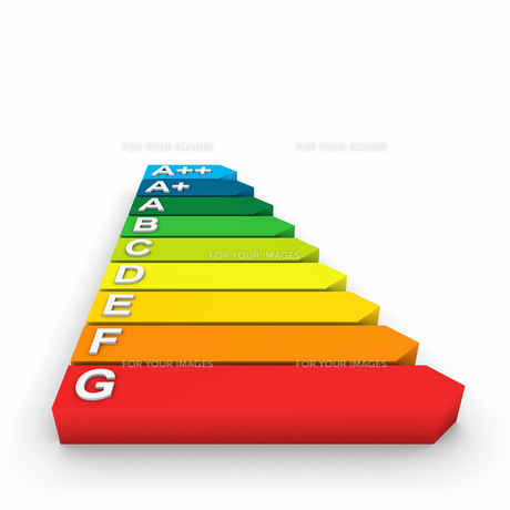 3d energy efficiency classes lyingの写真素材 [FYI00860180]
